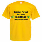 Funny Jamaica T-Shirt - NOBODY'S PERFECT JAMAICAN - Jamaica Father Gift