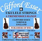CLIFFORD ESSEX SOPRANO UKULELE STRINGS. HEAVY. C OR D TUNING. MADE IN BRITAIN.