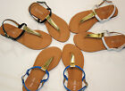 New Women Thong Flat Sandals Shoes Size
