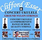 CLIFFORD ESSEX CONCERT UKULELE STRINGS. MEDIUM. WITH A LOW 4TH. MADE IN BRITAIN.
