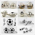 925 Silver Jaime Sports Family Beads fit European Beads Charms Bracelets