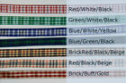 "6-yd 3/8"" TARTAN PLAID Woven Ribbon Blue Red Green Gingham flower Double-faced"