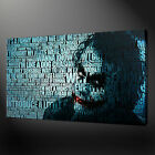 JOKER BATMAN MOVIE CANVAS WALL ART PICTURE PRINTS FREE FAST UK DELIVERY