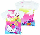 Girl's Hello Kitty Tropical Front & Back Print T-Shirt Top 4 5 6 8 10 Years NEW