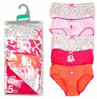 Girls Chainstore Pack of 5 Elephant & Flower Briefs Cotton Knickers 2-8 Yrs NEW