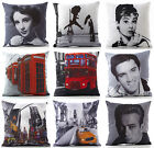 Photo Digital Printed Fabric Designer Cushion Cover Retro Vintage Modern Designs $5.15 USD on eBay