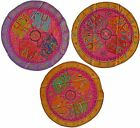 """Elephant Circle Wall Hanging Indian Sequin Tapestry Embroidered 34"""" 86cm Pink"""