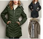 14 NWT Eddie Bauer Womens Sun Valley Down Parka Coat 650 FP 3 Colors Available
