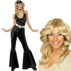 Womens 1970s Fancy Dress - Ladies 70s Diva Costume PLUS Blonde Flick Wig