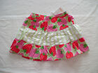 NWT GYMBOREE STRAWBERRY SWEETHEART GREEN PINK BERRY SUMMER SKIRTS
