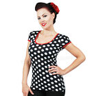 Steady Robyn Polka Dot Top Rockabilly Pin Up Retro Vintage Keyhole Kitsch