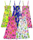 Girl's Floral Lined Chiffon Full Length Summer Fashion Maxi Dress 3 - 13 Yrs NEW