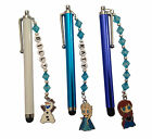 FROZEN IPAD / IPHONE / TABLET STYLUS, PLAIN OR PERSONALISED & CHOICE OF CHARM