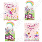Garden Fairy Party Invites & Thank You Cards x 8  FAST FREE POSTAGE!