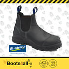 New Blundstone Mens Work Boots Black Shoes Safety Steel Toe Slip On 990 AU Size