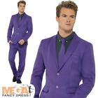 Purple Suit Mens Fancy Dress Stag Party Halloween Comedy Adults Costume Outfit