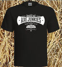 Axe Junkies logo T Shirts  Black or White Quality T