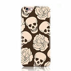 SKULLS AND ROSES DESIGN PATTERNS PRINTED MOBILE PHONE CASE COVER FOR IPHONE 6 6S