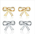 Hot Selling Stainless Steel Silver/Gold Bowknot Stud Earring Women's New Gift