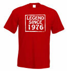 Legend Since 1976 39th Birthday t shirt Perfect Gift or Present FREE UK P&P
