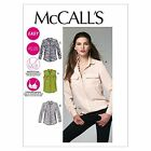 McCalls 6436 Easy Shirt Top Vest XS- Plus Size Sewing Pattern M6436 4 in 1