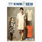 Kwik Sew 3718 Easy Drawstring Hem Cowl Neck Dress Sewing Pattern K3718 2in1