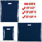 BLUE HEAVY DUTY COLORED PLASTIC CARRIER BAGS PARTY GIFT BAGS IN 3 SIZES