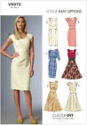 Vogue Easy Options Custom Fit 8972 Smart Dress Sewing Pattern V8972 6 styles!