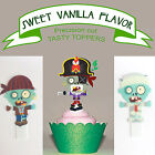 Plants Vs Zombies 2 Birthday Party EDIBLE Cupcake Toppers PRECUT cup cake