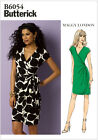 Butterick 6054 Maggy London Fitted Wrap Dress Sewing Pattern B6054