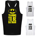 TRAINING TO BE BATMAN VEST - GYM MUSCLE TANK TOP RACERBACK WEIGHT SINGLET