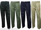 Men's Elasticated Waist Casual Rugby Trousers smart work Plain pants Plus size