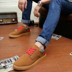 New Men's Casual Lace-ups Round Toe Flat Canvas Shoes Sneakers 4 Colors XMR014