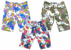 Boy's Flower Leaf Pattern Chino Shorts Knee Summer Fashion 3-12 Years NEW