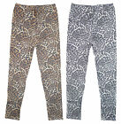 Girl's Faded Leopard Animal Print Fashion Leggings Summer 3-12 Years NEW
