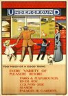 Vintage London Travel Posters, A3 A4 Size Retro Wall Art Prints Valentines Day