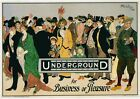 A3 or A4 Size * VINTAGE LONDON UK POSTERS * Retro Underground Advertisements