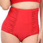 Unique Vintage Jacqueline Red Bikini Bottoms Pin Up Rockabilly High Waisted