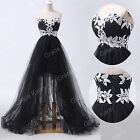 Sweetheart Black Ball Gown Evening Homecoming Party Prom Dresses Long  Plus Size