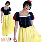 Snow White Long Dress Ladies Fancy Dress Fairytale Princess Womens Adult Costume