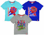Boy's Official Spiderman Crime Fighter Cotton T-Shirt Top Tee 3 4 6 8 Years NEW