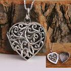 Sterling Silver Necklace Handcraft Antiqued Filigree Love Heart Locket Pendant