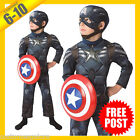Boys Costume Fancy Child Dress RD Licensed Captain America Winter Soldier DLX