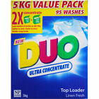 Duo Ultra Concentrate Laundry Top Loader Washing Machine Powder 5kg Value Pack