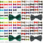New Satin Mens Pre Tied Wedding Party Fancy Plain Necktie tie Bow Ties MEN