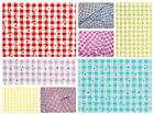 """Daisy Puff Gingham Fabric 1/4"""" Check (6.35mm) Dress Material  -56"""" (142cm) wide"""