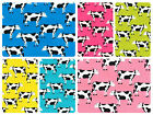 "100% Cotton Poplin Dress Fabric Material - Fresian Cows Dairy -44"" (112cm) wide"