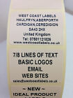 Rolls of Printed Personalised CREAM ADDRESS Labels - 38mm x 25mm