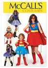 McCalls 7001 Girl Womens Superwoman Batgirl  Costume Sewing Pattern M7001