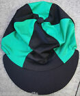 Riding Hat Silk Skull cap Cover BLACK & GREEN With OR w/o Pompom
